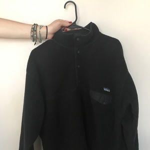 Patagonia solid, black, fleece